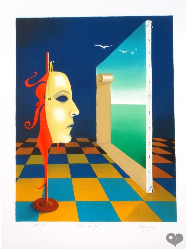 Art Lover Place Achetez L Oeuvre Echec Au Fou Peinture Par Daniel Bergagna