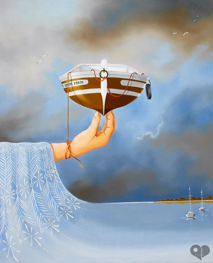 Art Lover Place - Achetez l'oeuvre la Santa Maria (Peinture) par Daniel Bergagna