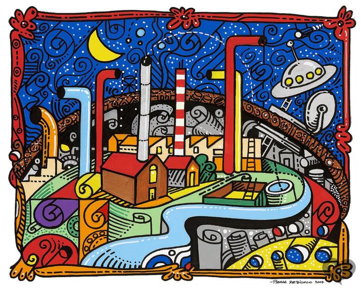 Peinture Sur Pierre art lover place - achetez l'oeuvre baroque-fort (peinture) par