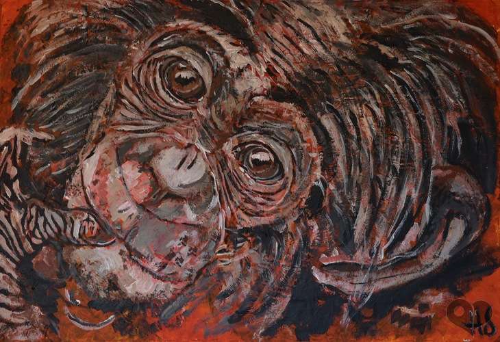 Art Lover Place - Achetez l'oeuvre Rayonne (Peinture) par HJ