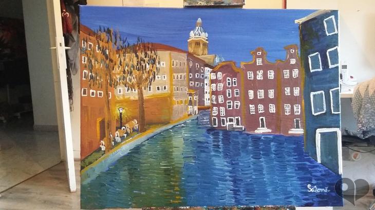 Art Lover Place - Achetez l'oeuvre Amsterdam (Peinture) par salomé peintures