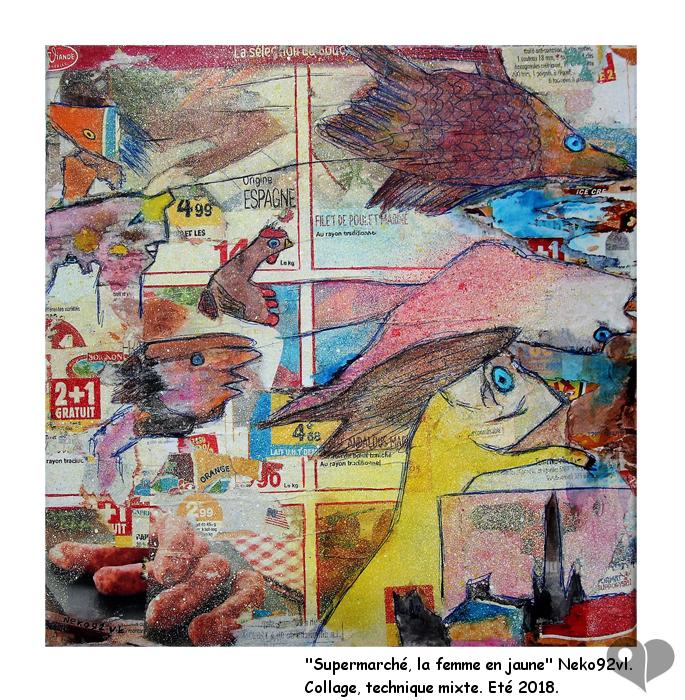 Art Lover Place Achetez L Oeuvre Supermarche La Femme En Jaune Peinture Par Neko92vl