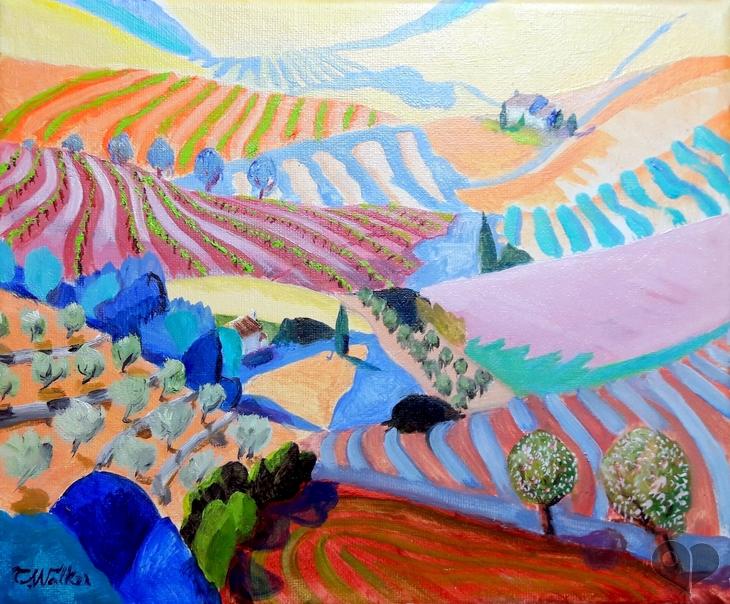 Art Lover Place - Achetez l'oeuvre ou la reproduction de Des Vignes Provençales (Peinture) par ...