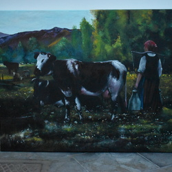 9ba103b911bd Peinture - joky kamo · peintures paysage animaux peinture signé